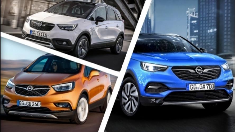 Opel X, l'invasione dei crossover