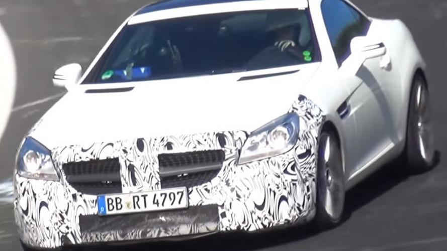Mercedes-Benz SLC spied testing on Nurburgring [video]