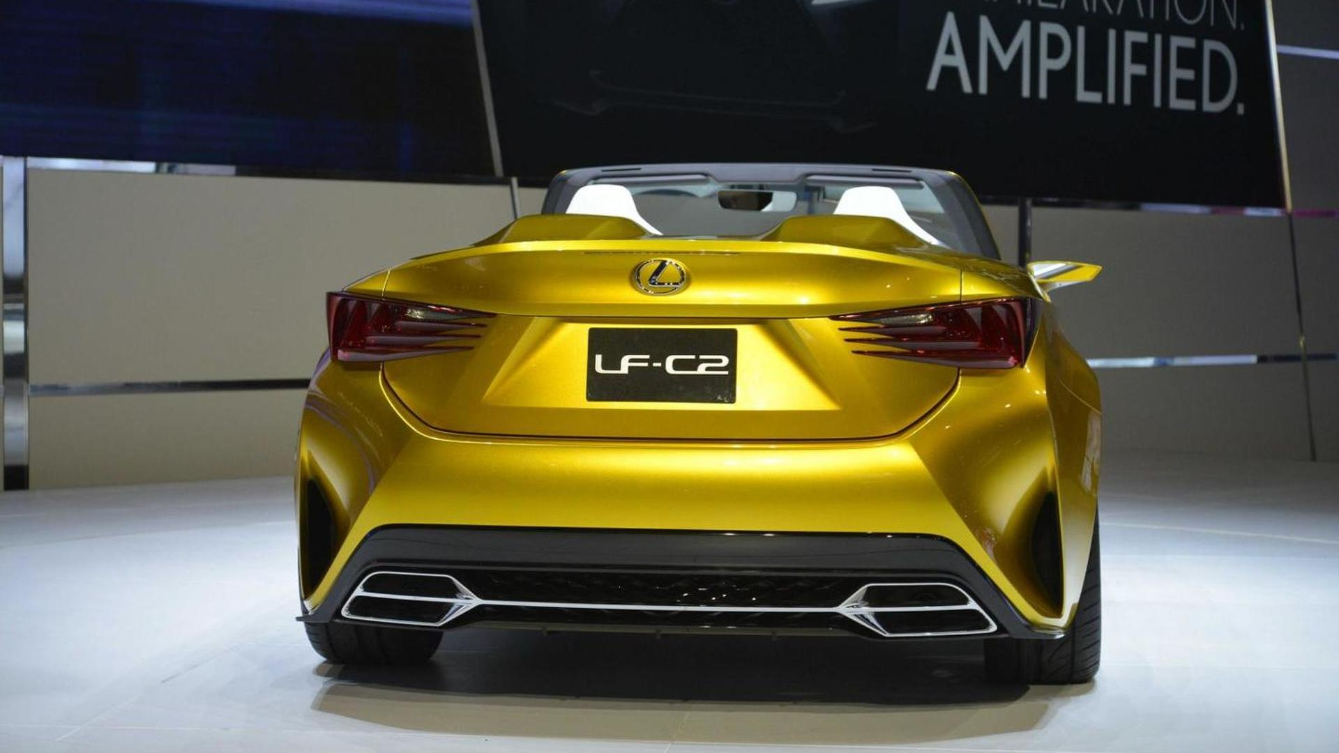 Lexus LF C2 concept goes topless in L A video