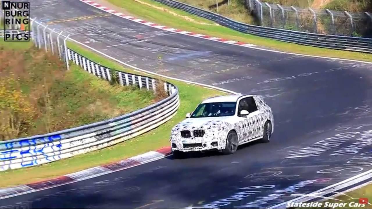 2019 BMW X3 M screenshot from spy video