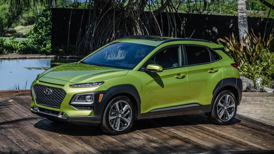 2018 Hyundai Kona - amerikai piacra szánt változat