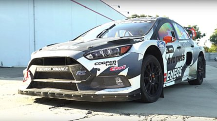 Can A 650-HP Rallycross Car Launch In Half-Inch Of Dish Soap?
