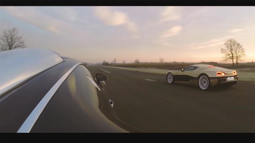 Rimac Concept One ve Bugatti Veyron drag yarışında