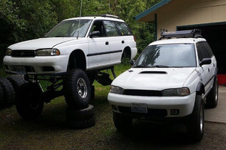This Crazy Subaru Legacy Off-Roader Sports an STI Engine