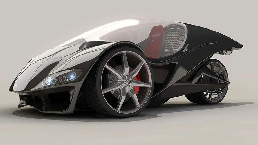 Hodge Hawk Three-Wheeler Concept from New Zealand: Best of Both Worlds